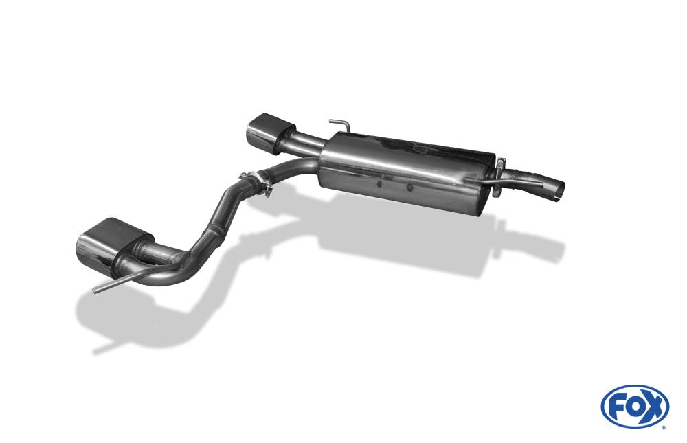 Fox Duplex Auspuff Sportauspuff Komplettanlage VW Golf III/ Cabrio|VW052054-593