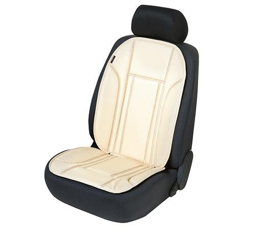 Sitzauflage Sitzaufleger Ravenna beige Kunstleder Sitzschoner Lancia Prisma