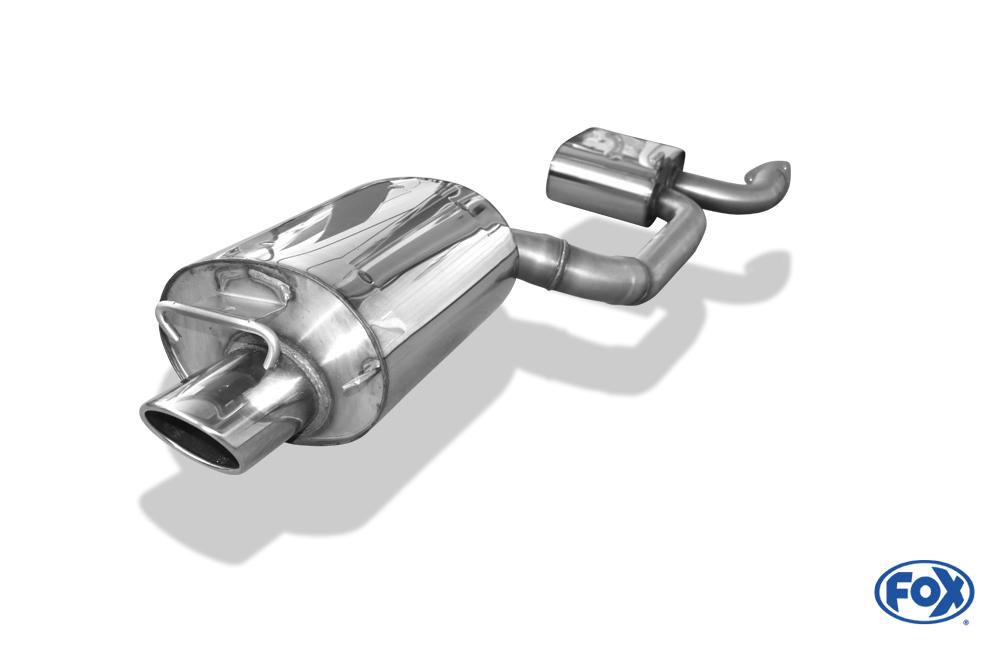 Fox Auspuff Sportauspuff Endschalldämpfer Mercedes SLK Typ 170 2,0l K 141kW