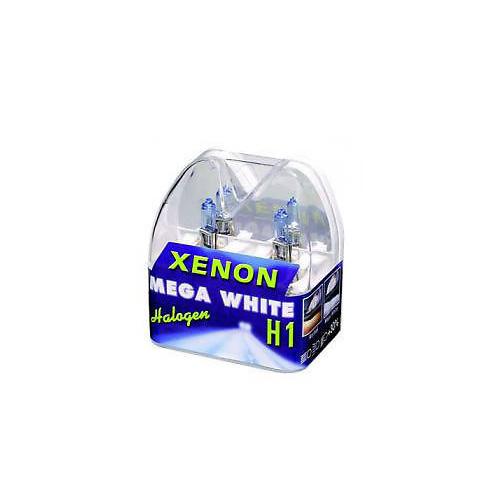 XENON LIGHT H1 55W SUPER WHITE GLÜHLAMPEN GLÜHBIRNE MEGA WHITE 2er SET