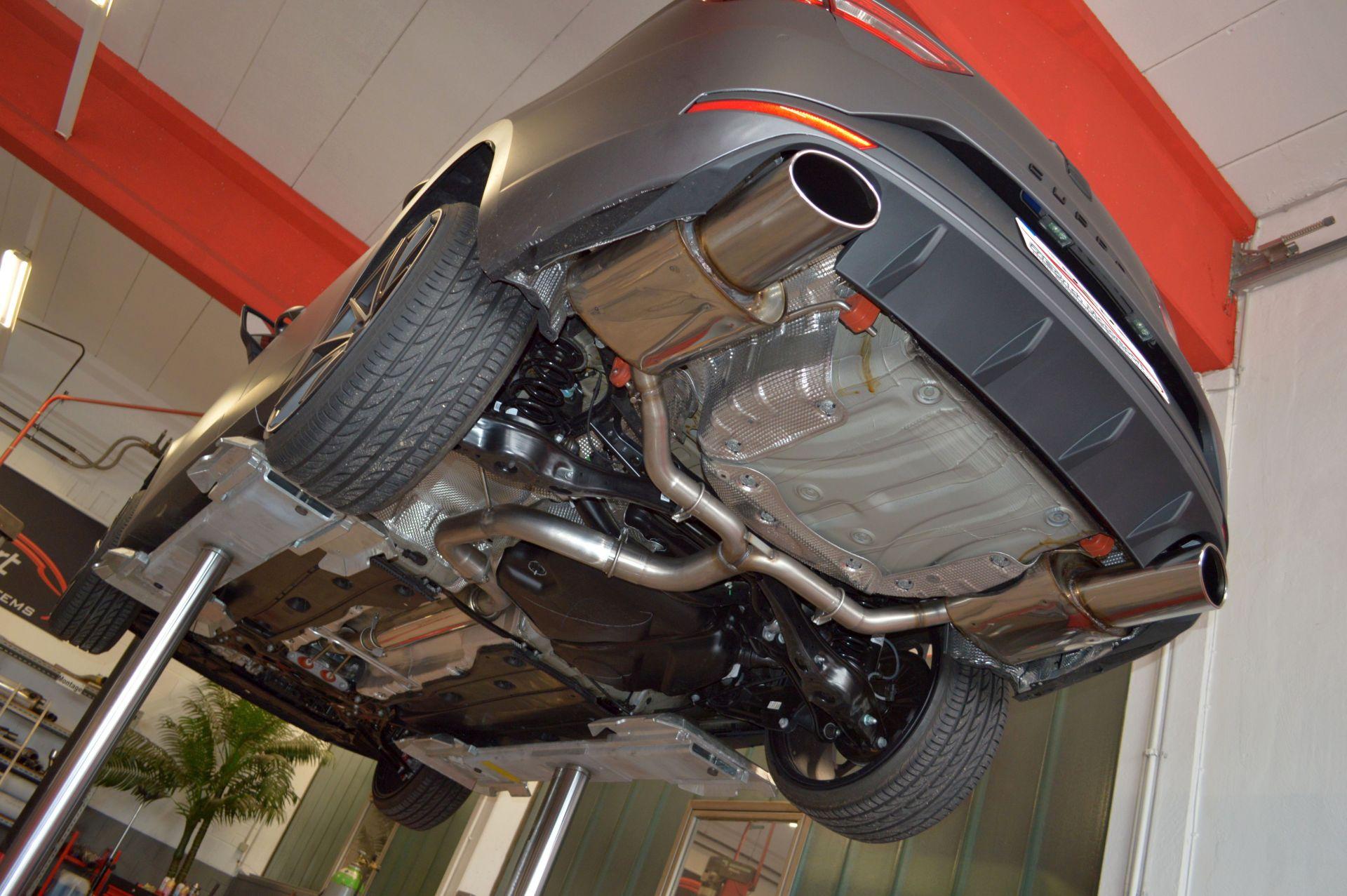 Friedrich Motorsport 76mm Duplex Auspuff Sportauspuff Anlage Seat Leon 5F ST