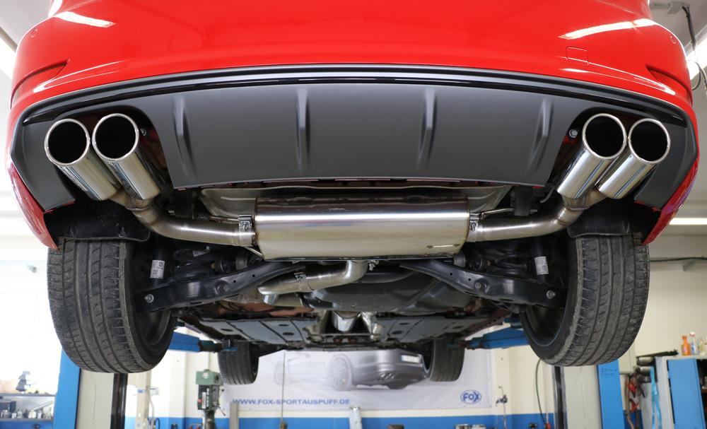 Fox Auspuff Duplex Sportauspuff Sportendschalldämpfer Audi A3 8V Limo 1.4l TFSI
