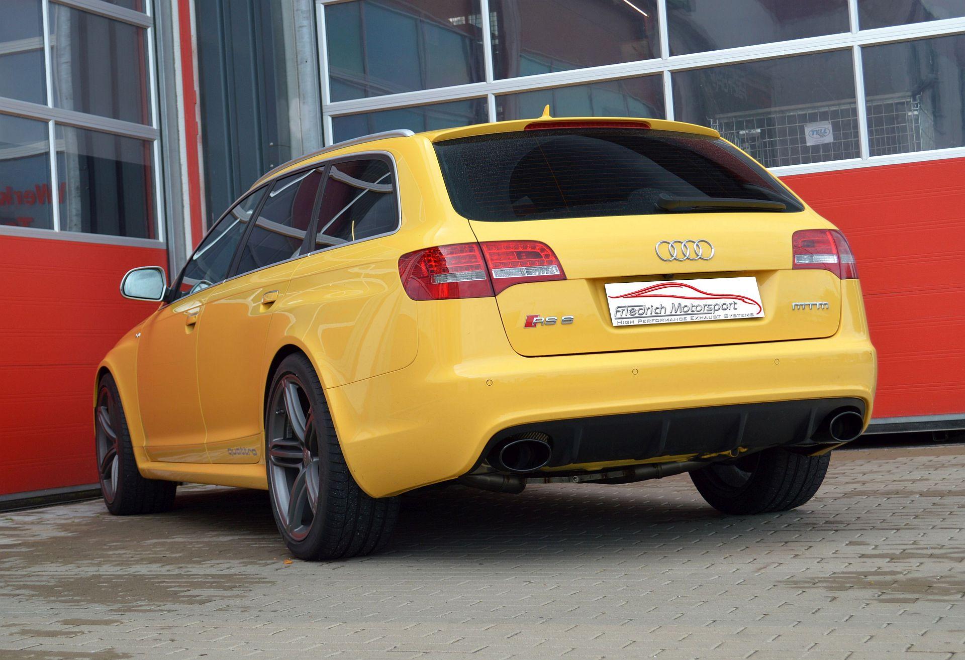 Friedrich Motorsport 76mm Duplex Auspuff Sportauspuff Anlage Audi RS6 4F Quattro