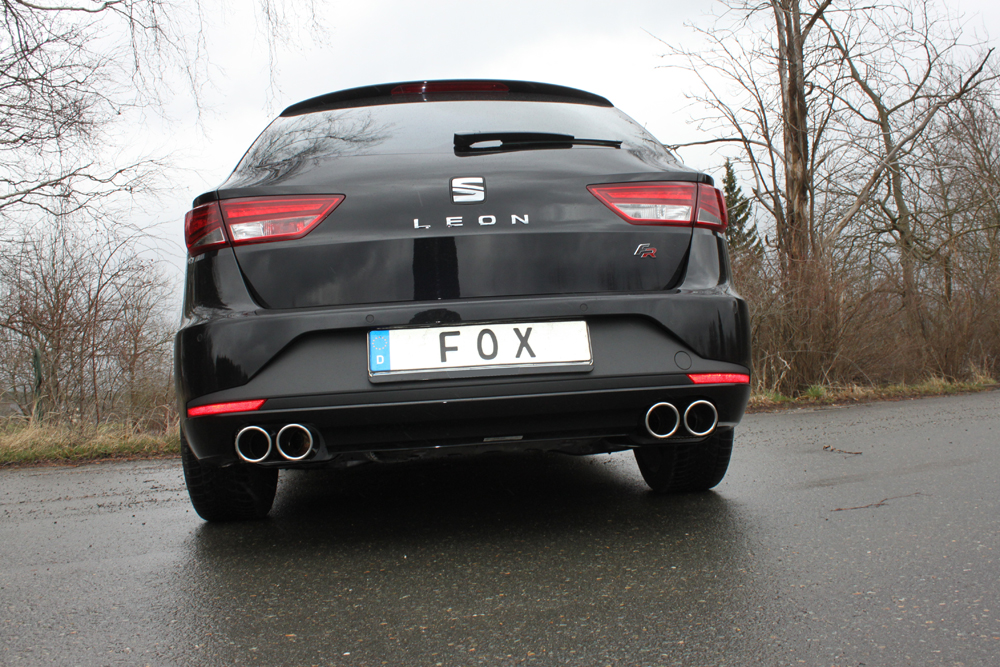 Fox Duplex Sportauspuff Komplettanlage Seat Leon ST 5F nicht 4-drive 2,0