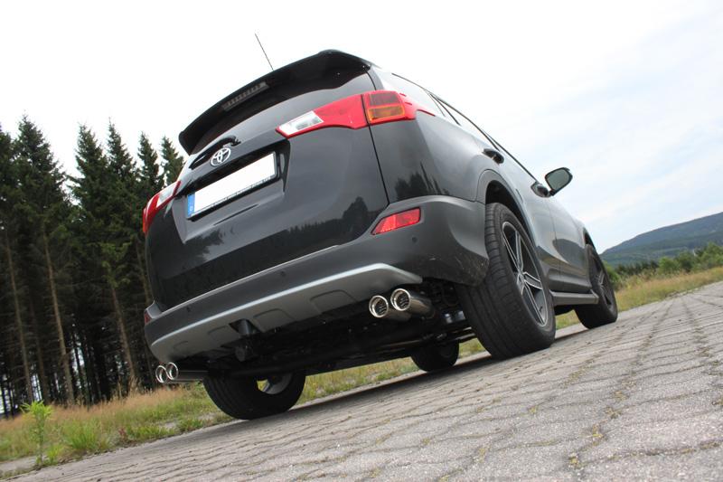 Fox Duplex Auspuff Sportauspuff Endrohrsystem Toyota RAV 4 IV 2,0l 111/112kW