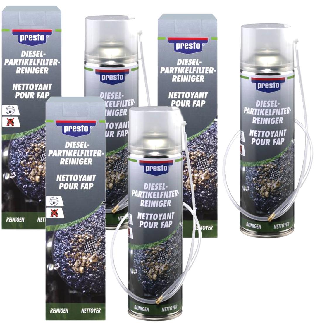 3x Presto Dieselpartikelfilter Reiniger DPF Reiniger mit Sonde 400 ml Rußfilter