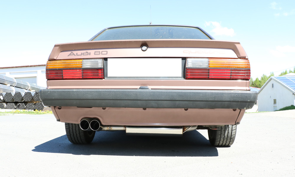 Fox Auspuff Sportauspuff Komplettanlage Audi 80/90 quattro 81 Vorfacelift 1,8l