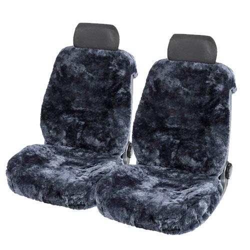 Lammfellbezug Auto Sitzbezug Sitzbezüge Lammfell Fellbezug Fell anthrazit