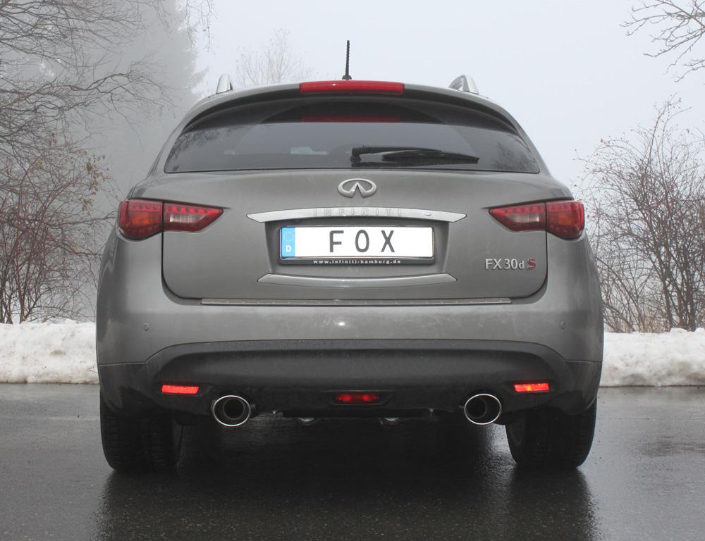 Fox Duplex Auspuff Sportauspuff Komplettanlage Infiniti FX 30d 3,0l D 175kW