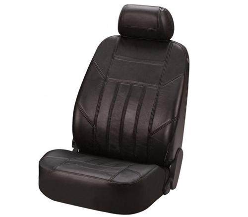 Sitzbezug Sitzbezüge Ledersitzbezug aus echtem Leder schwarz Fiat Panda