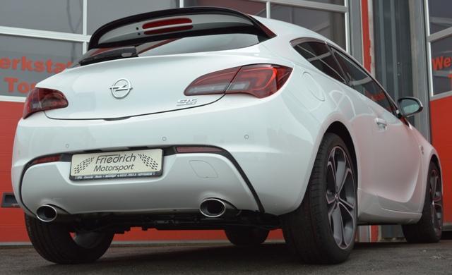 Friedrich Motorsport Gruppe A Duplex Sportauspuff Anlage Opel Astra J GTC 1.4l
