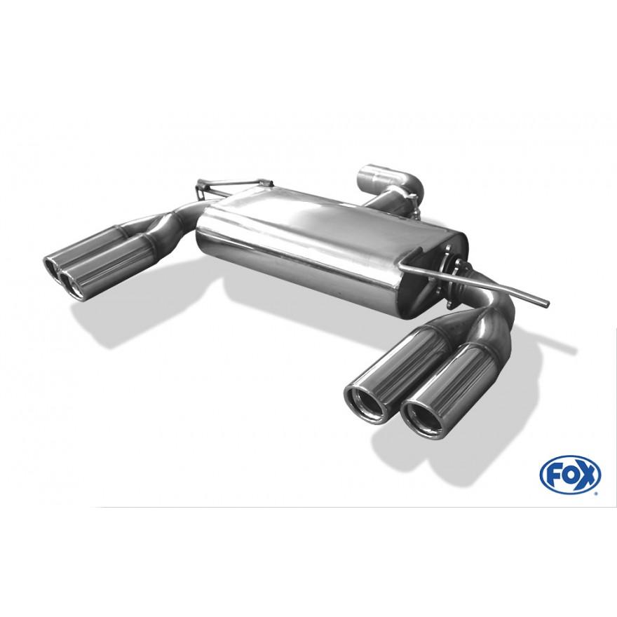 Fox Duplex Auspuff Sportauspuff Endschalldämpfer VW Scirocco 13 1,4l TSI 118kW