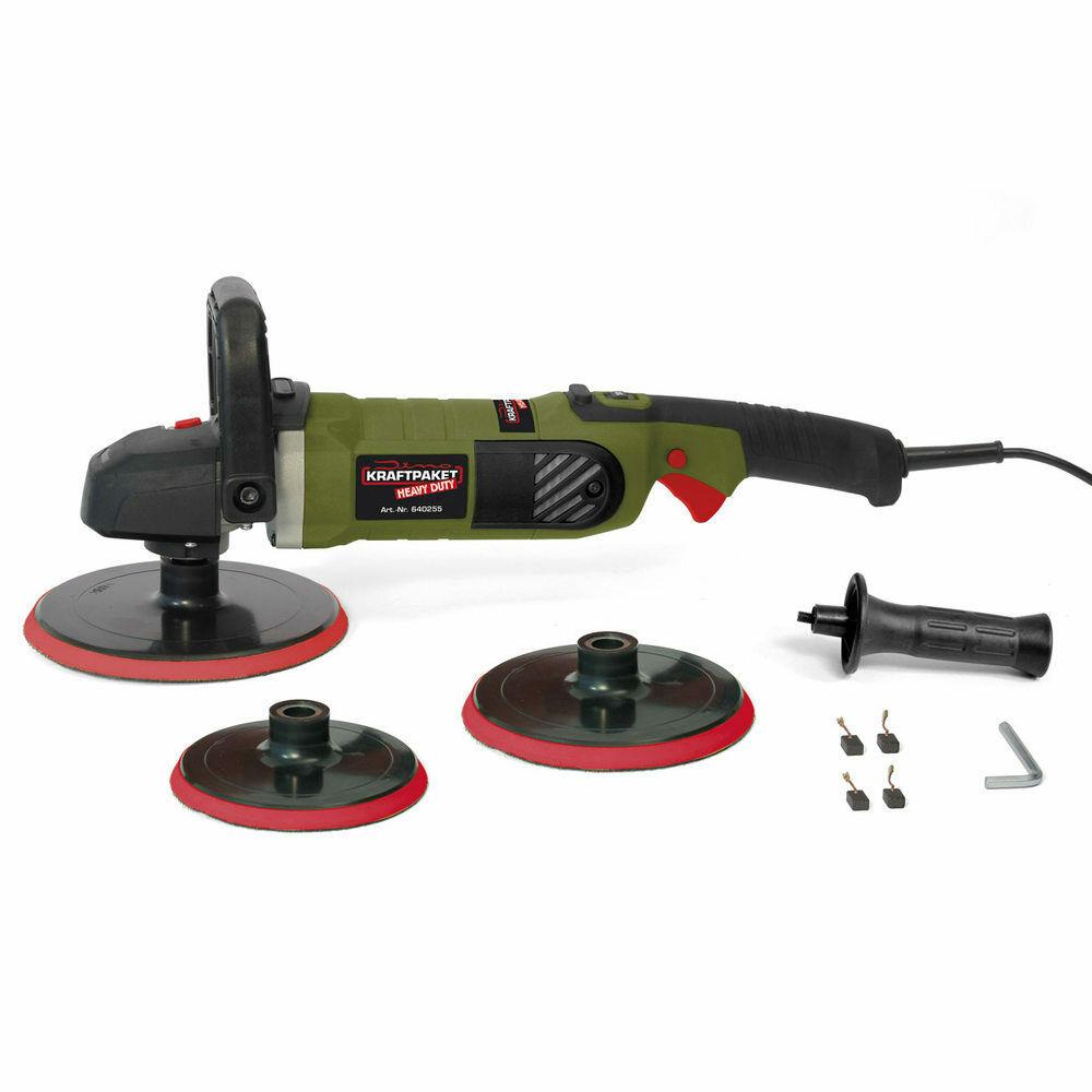 Dino Kraftpaket Heavy Duty Rotations Poliermaschine 1400W Set 3-Stützteller