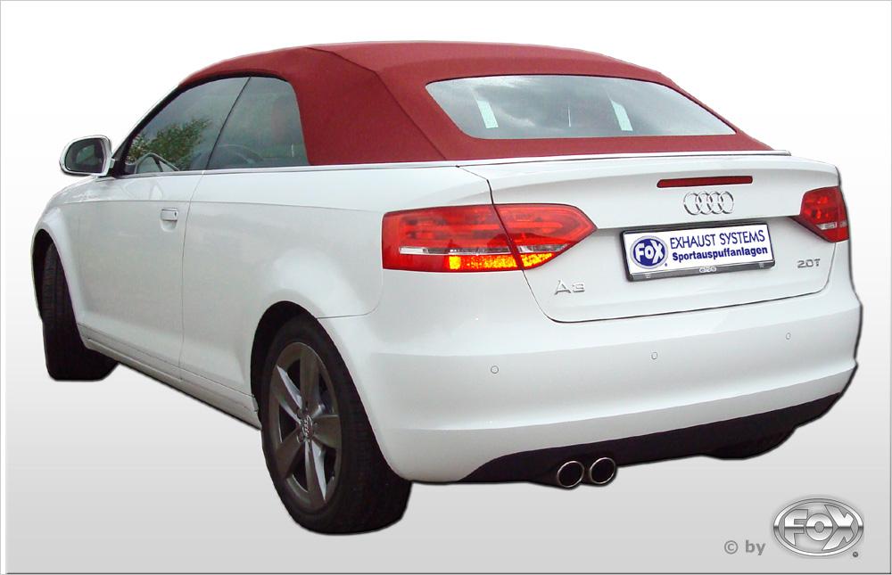 Fox Auspuff Sportauspuff Komplettanlage Audi A3 8P Cabrio 1,4l 92kW