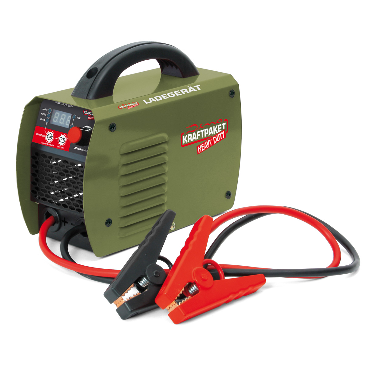 Dino Kraftpaket Heavy Duty Batterieladegerät und Starthilfe 250A 12V 24V 1-40A