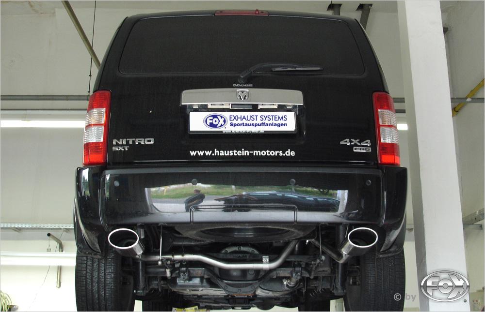 Fox Duplex Auspuff Sportauspuff Endrohrsystem Dodge Nitro 3,7l 151/157kW 4,0l