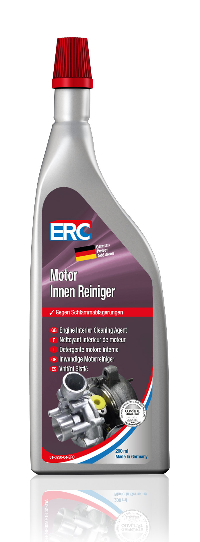 1 x 200 ml ERC Motorinnenreiniger Motor Innen Reiniger Innenreiniger Motorspülung