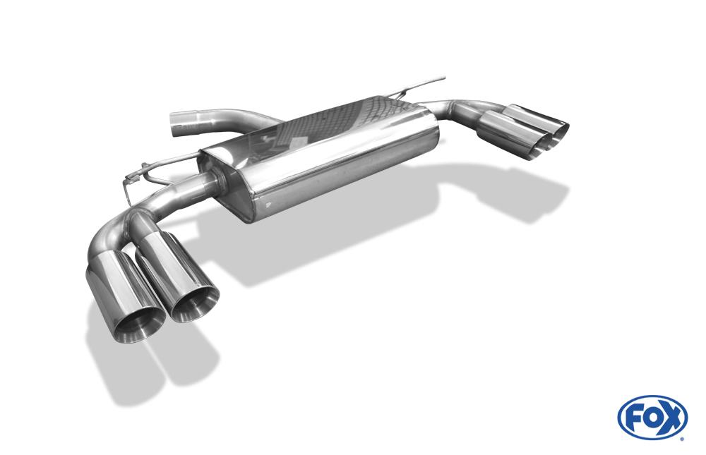 Fox Auspuff Duplex Sportauspuff Komplettanlage Audi A3 8V Limo 1.4l TFSI