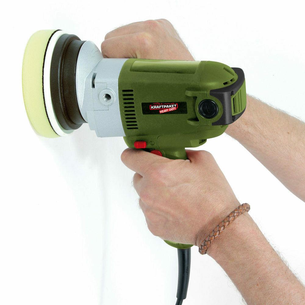 Dino Kraftpaket Heavy Duty Exzenter Poliermaschine mit Zwangsrotation 8mm-900W