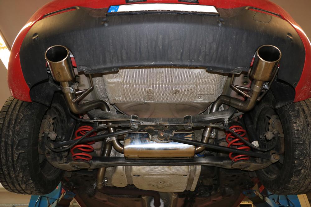 Fox Duplex Auspuff Sportauspuff Komplettanlage Opel Astra J GTC 1,4l Turbo 88kW