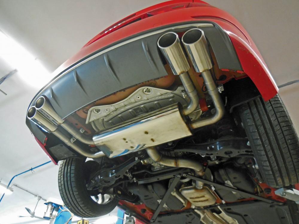 Fox Auspuff Duplex Sportauspuff Sportendschalldämpfer Audi S3 8V Cabrio Limo 2.0