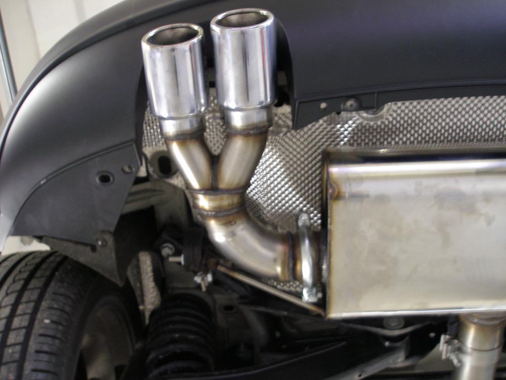 Fox Auspuff Sportauspuff Endschalldämpfer Seat Leon 1P 1,4l 92kW 1,8l TSI 118kW