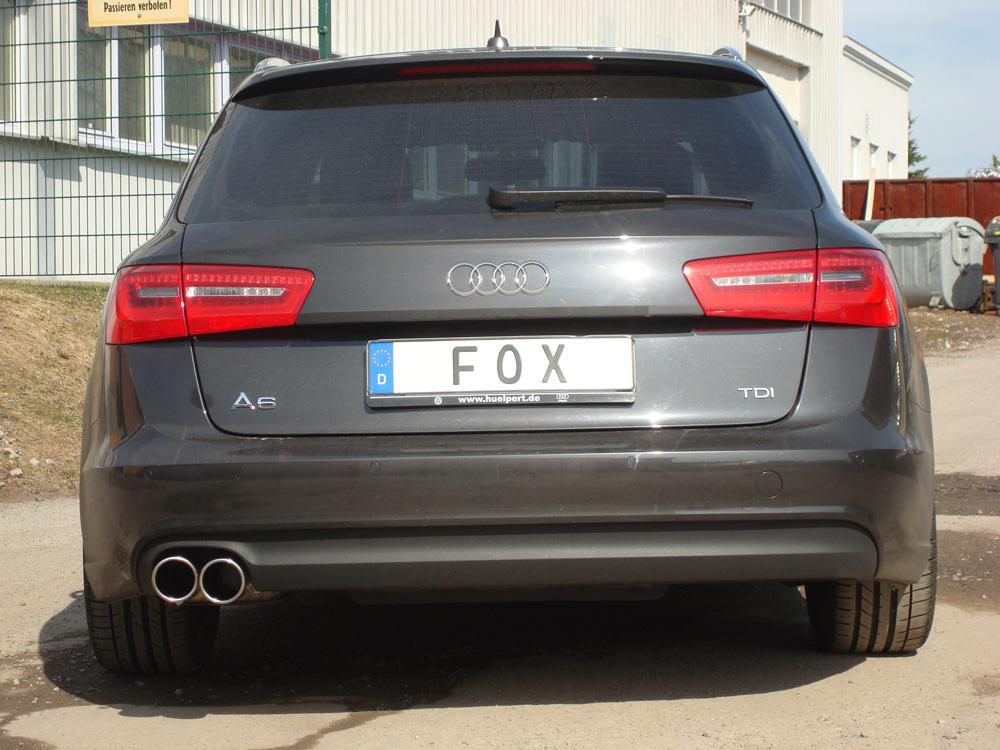 Fox Auspuff Sportauspuff Audi A6 4G Limo/ Avant 2,0l TDI 100/120/130kW