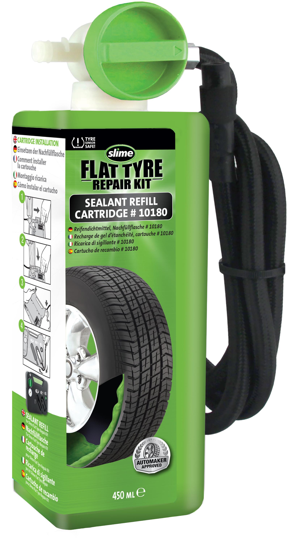 Slime Nachfüllflasche 450ml Reifenpannenset Ersatzflasche Slime Flat Tyre Repair