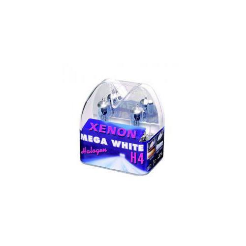 XENON LIGHT H4 60/55W SUPER WHITE GLÜHLAMPEN GLÜHBIRNE MEGA WHITE 2er SET