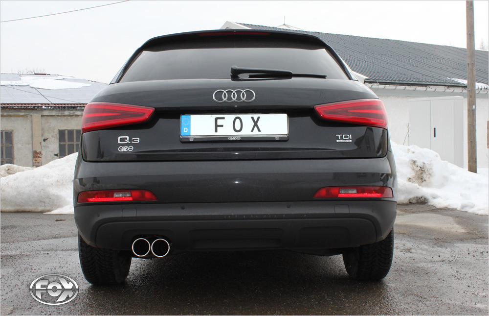 Fox Auspuff Sportauspuff Auspuff Sportauspuffanlage Komplettanlage Audi Q3 2,0
