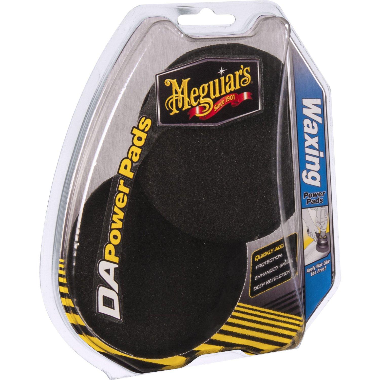 Meguiars DA Power Pads Waxing Lack Polierpad Wachs Polieren 2 Stk G3509INT