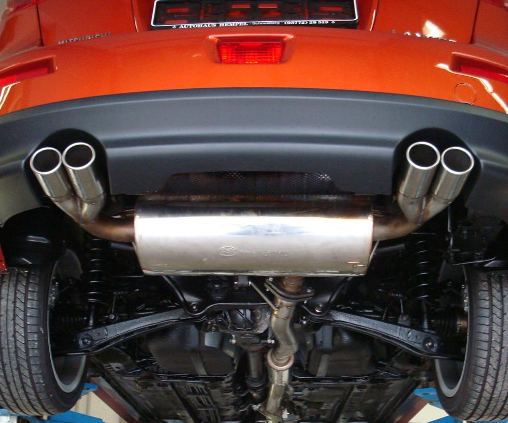 Fox Duplex Auspuff Sportauspuff Mitsubishi Lancer CYO Ralliart 2,0l 177kW