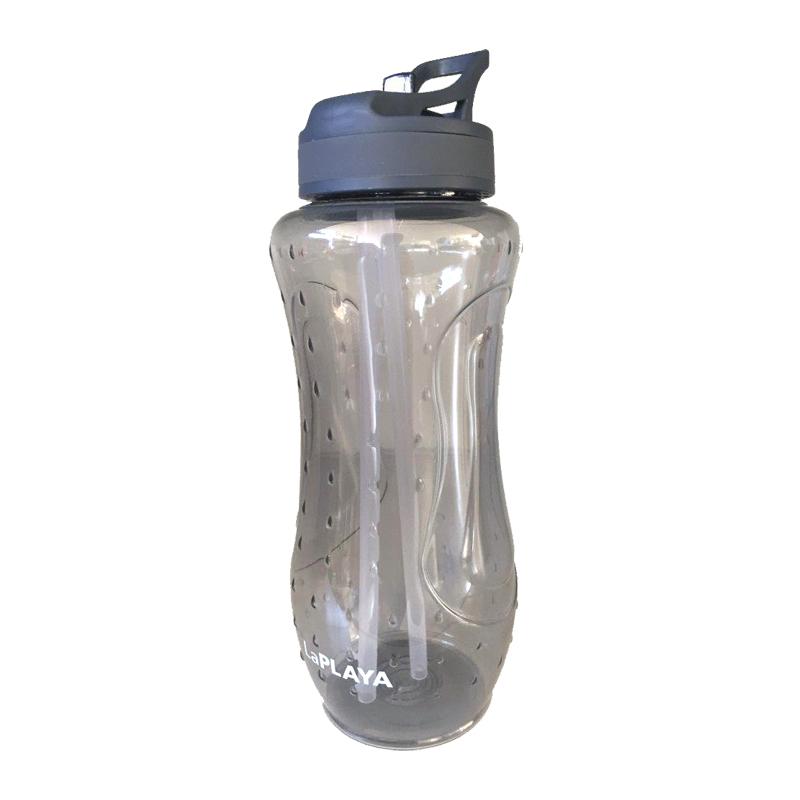 Trinkflasche LaPlaya Wasserflasche Flasche Sport Fitness BPA frei 0,9l grau