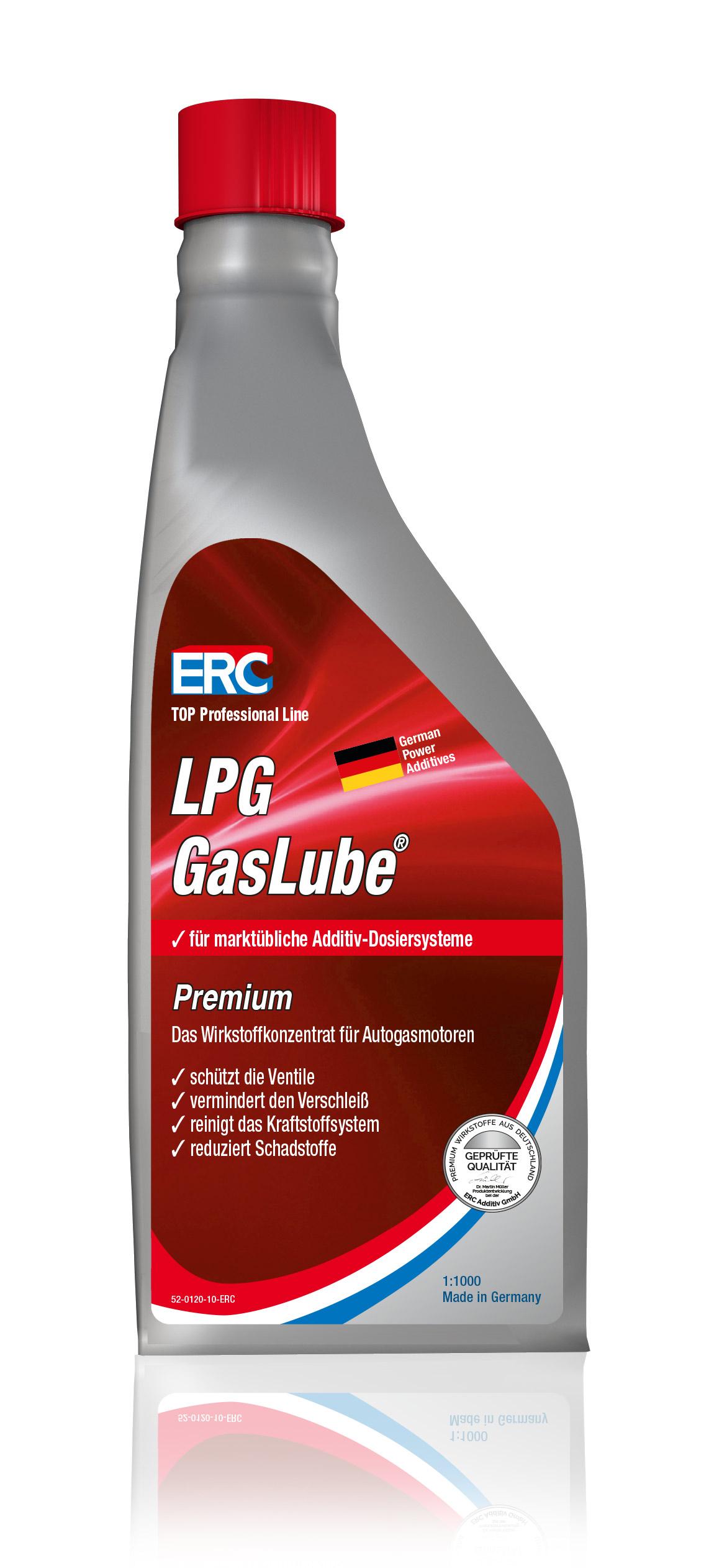 1x 1 LITER ERC Gas Lube Premium LPG-Additiv für Dosieranlagen Ventilschutz 1:100