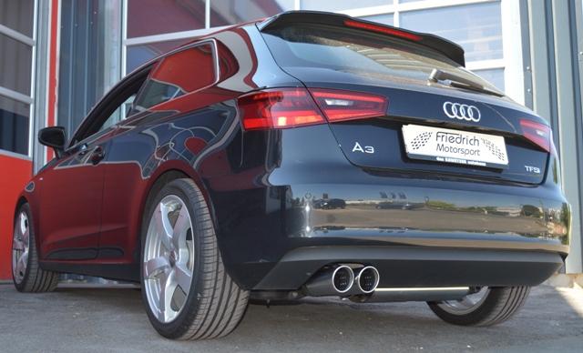 Friedrich Motorsport Gruppe A Auspuff Sportauspuff Anlage Audi A3 8V 3-Türer