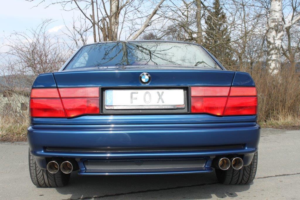 Fox Duplex Auspuff Sportauspuff Komplettanlage BMW E31 850i 5,0l 220kW Bj. 90-