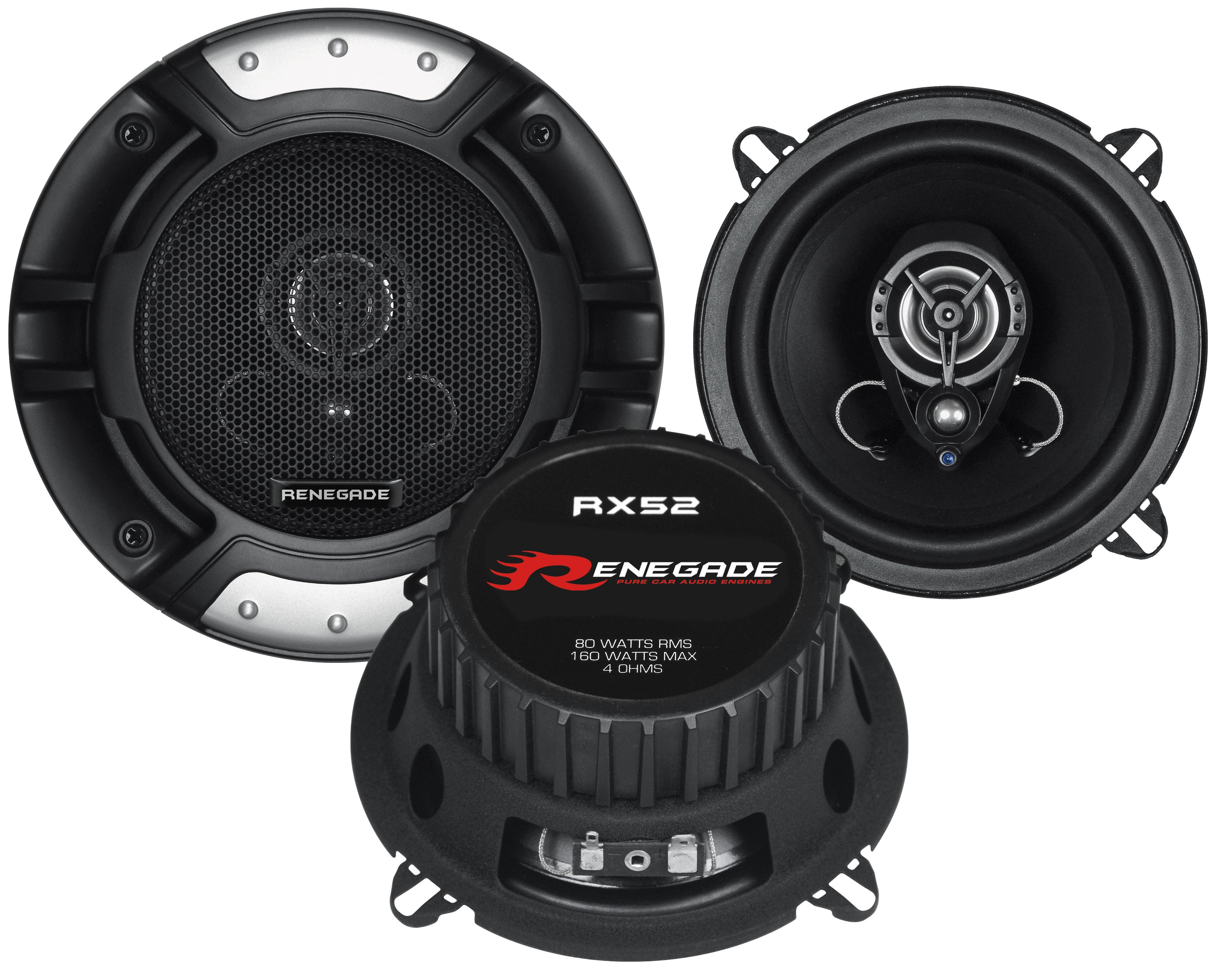RENEGADE 2-Wege Koax 13cm RX-52 Lautsprecher Auto Boxen Set 160 Watt PKW KFZ