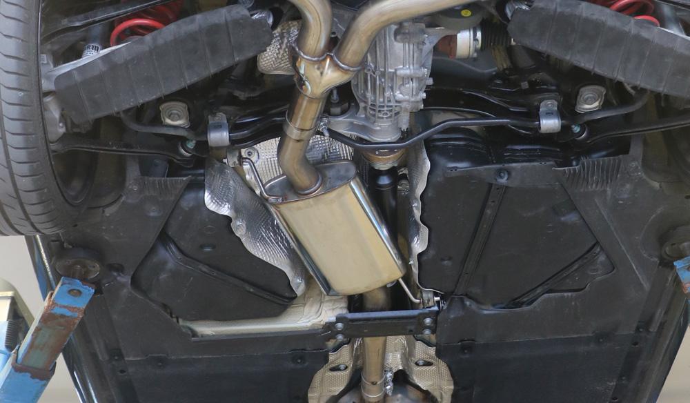 Fox Mittelschalldämpfer Auspuff Sportauspuff Audi A4 quattro B9 Limo, Avant