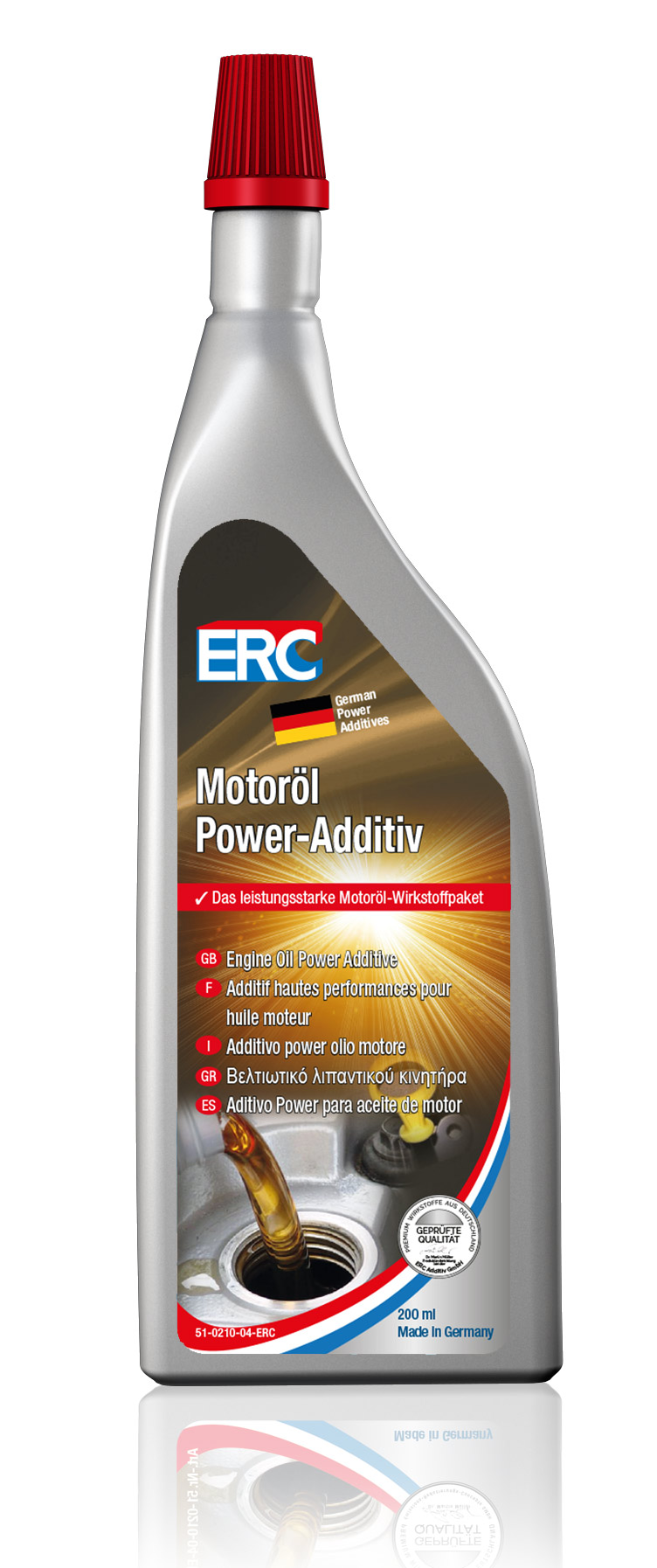 1 x 200 ml ERC MotorOel Power Additiv Öl Additiv Ölzusatz Otto u. Diesel Motoren