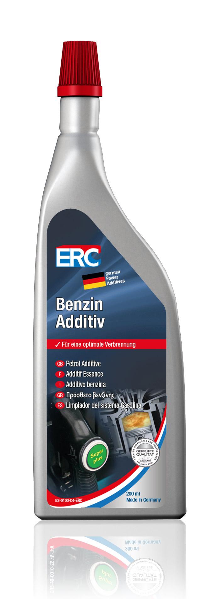 10 x 200 ml ERC Benzin Sprit Additiv für alle Benzinmotoren Systemreinigung