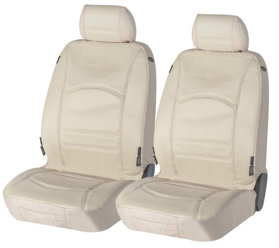 Sitzbezug Sitzbezüge Ranger aus echtem Leder beige Fiat 500