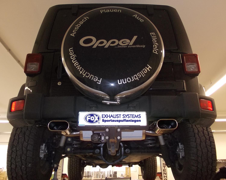 Fox Duplex Auspuff Sportauspuff Jeep Wrangler III JK 2,8l CRD 130/147kW
