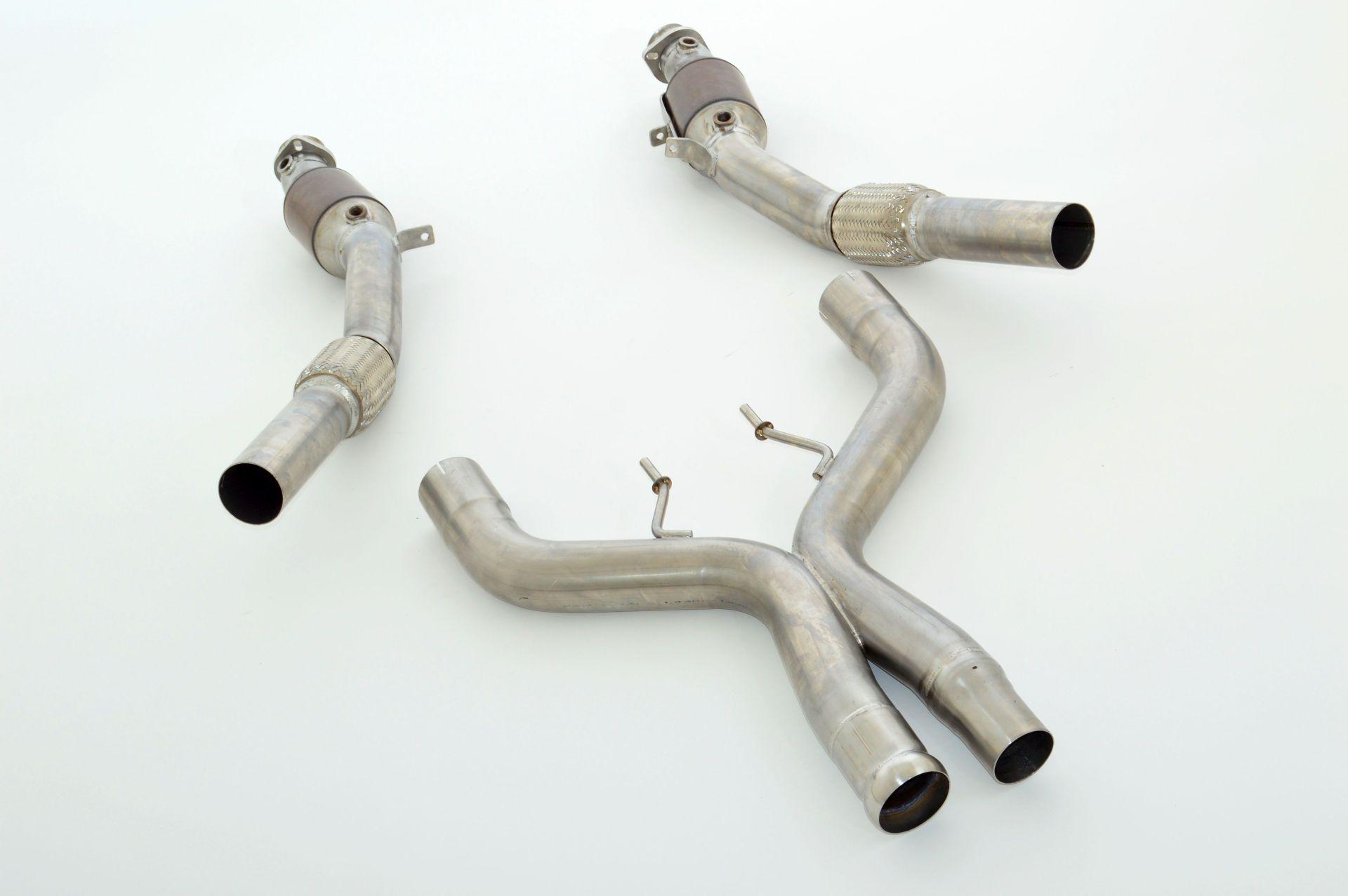 Friedrich Motorsport 2x76mm Downpipe Unterteil HJS Kat Mercedes A/C217 S-Klasse