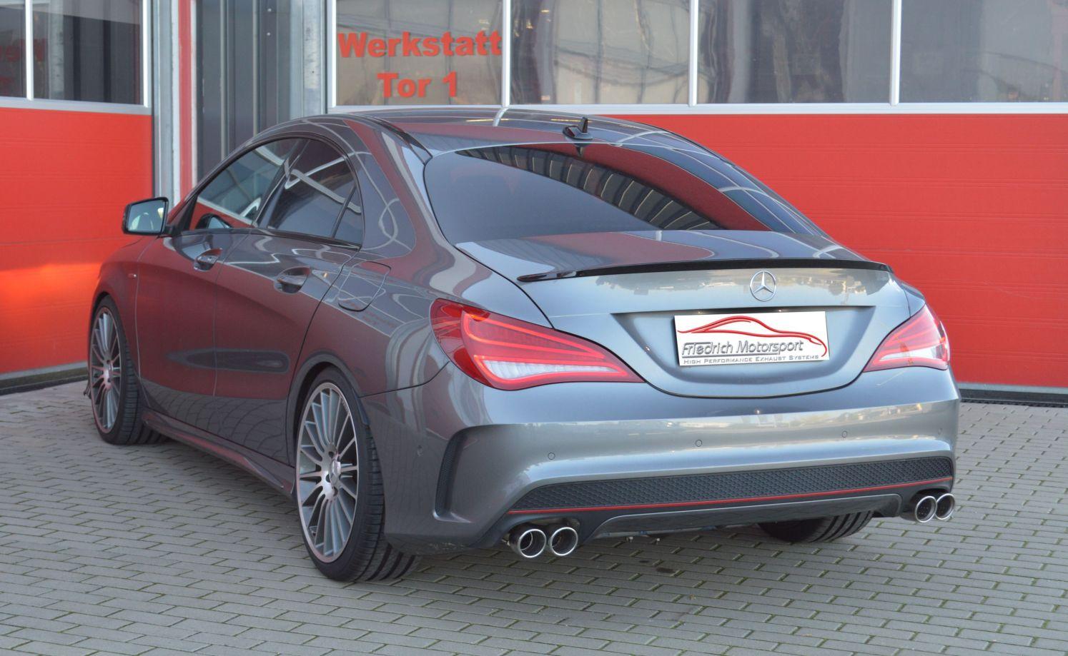 Friedrich Motorsport 76mm Duplex Sportauspuff Anlage Mercedes C117 CLA Coupe