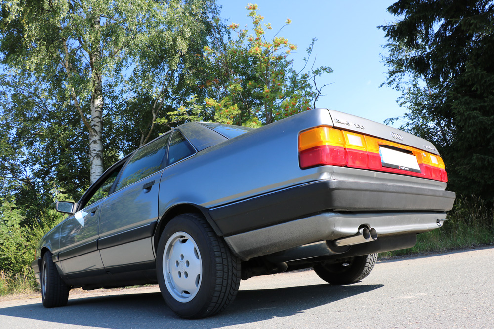 Fox Auspuff Sportauspuff Komplettanlage Audi 100 C3 quattro 2,3l 98kW