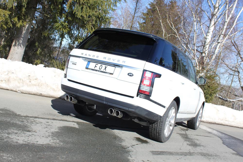 Fox Duplex Auspuff Sportauspuff Endschalldämpfer Land Rover Range Rover IV 4,4 D