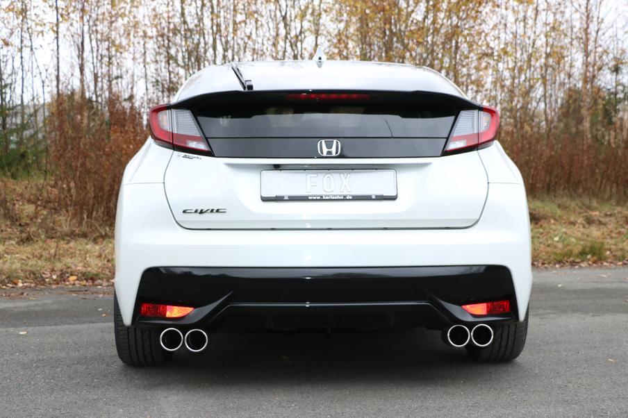 Fox Auspuff Sportauspuff Komplettanlage Honda Civic IX Hatchback 1,8l 104kW