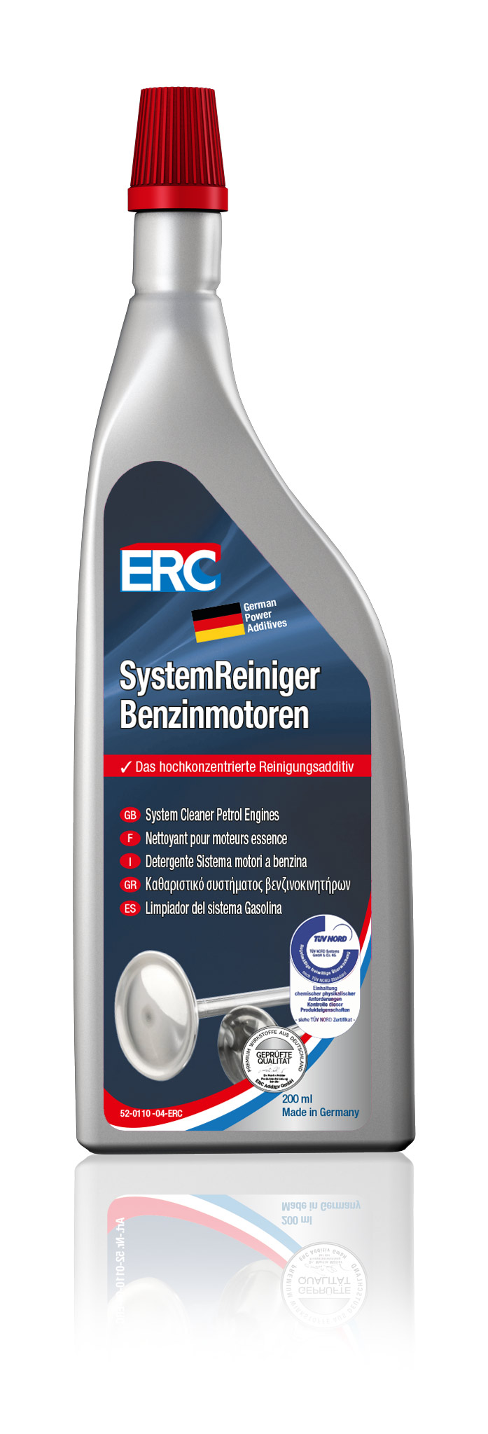 10 x 200 ml ERC System Reiniger Benzinmotoren Benzin Reiniger Benzinsystemreiniger