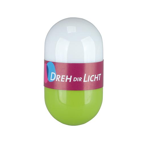LED DREH DIR LICHT GRÜN DREHLICHT DEKO LEUCHTE TASCHEN LAMPE LICHT LAMPE