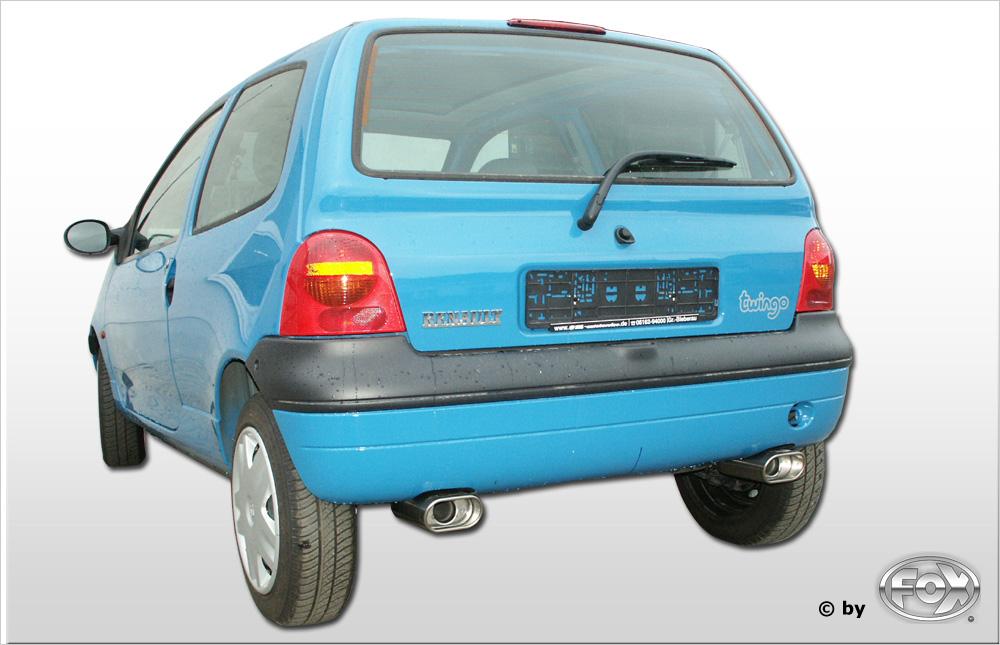 Fox Duplex Auspuff Sportauspuff Halbanlage Renault Twingo C06 1,2l 55kW
